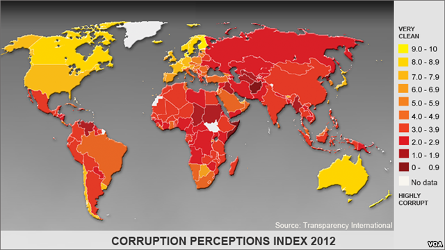 Anti-Corruption Group Says Abuse of Power Still 'Very High' in Many Countries