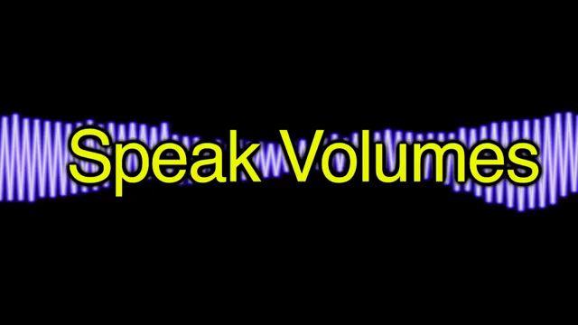 Speak Volumes - Nói lên tất cả