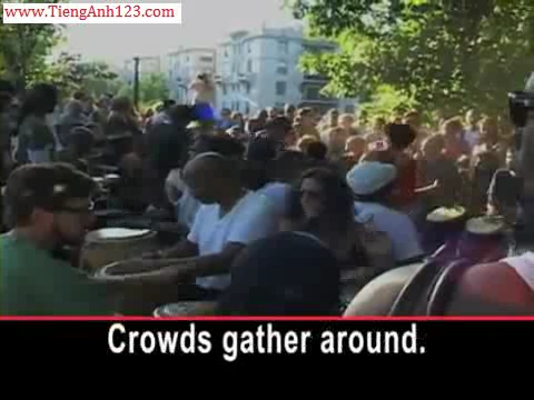 Drum Circle Widens Into a United Nations of Beats