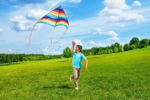 I am flying a kite