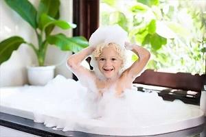 I am taking a bath