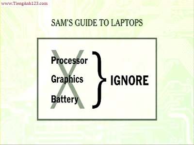 Lesson 43: Tips for purchasing a laptop.