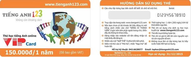 Quyền lợi thành viên VIP của TiếngAnh123