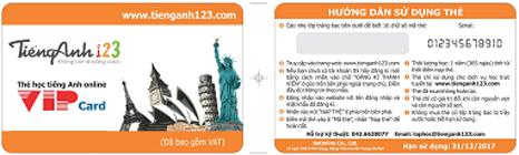 thẻ học tiếng Anh trên tienganh123.com