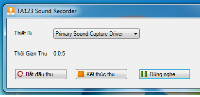 TA123 Sound Recorder