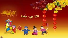 TiếngAnh123 chúc mừng năm mới và thông báo lịch nghỉ tết xuân Giáp Ngọ 2014