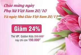 Chương trình khuyến mại chào mừng ngày Phụ nữ và ngày Nhà giáo Việt Nam
