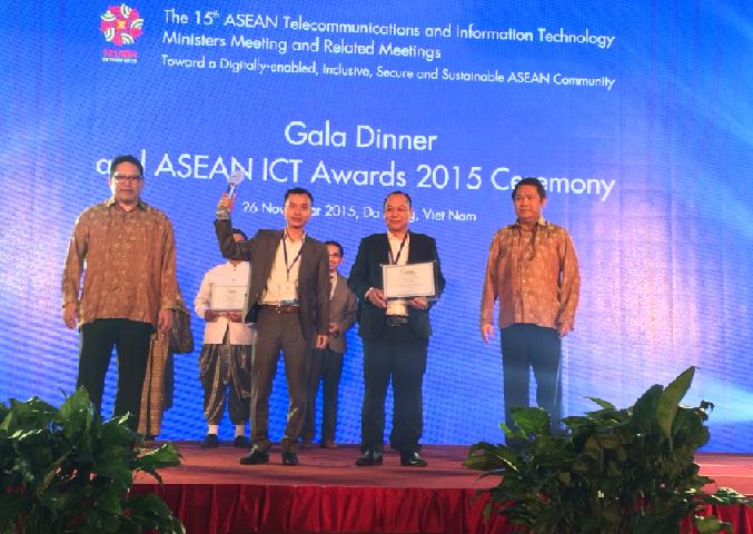 Tiếng Anh 123 nhận giải ASEAN ICT AWARDS 2015