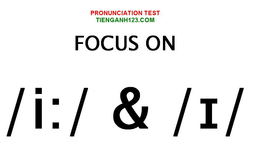 Elementary Pronunciation Test 1