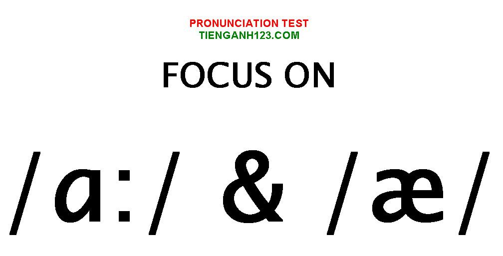 Elementary Pronunciation Test 3