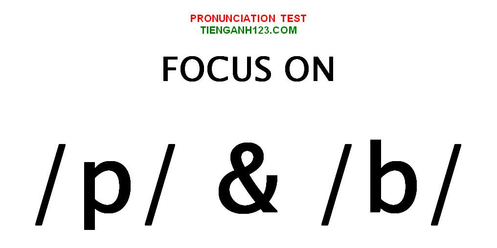 Elementary Pronunciation Test 9