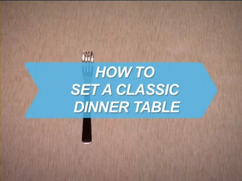 How To Set a Classic Dinner Table