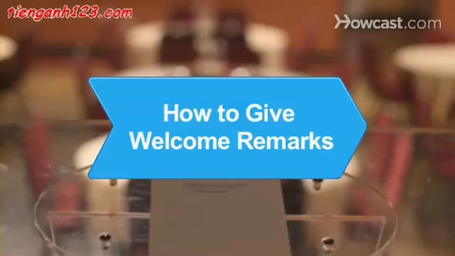 How to Give Welcome Remarks